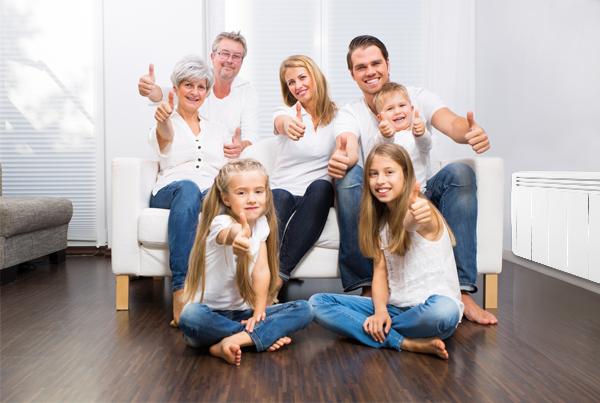 clients aterno satisfaits de leur installation de radiateurs à inertie