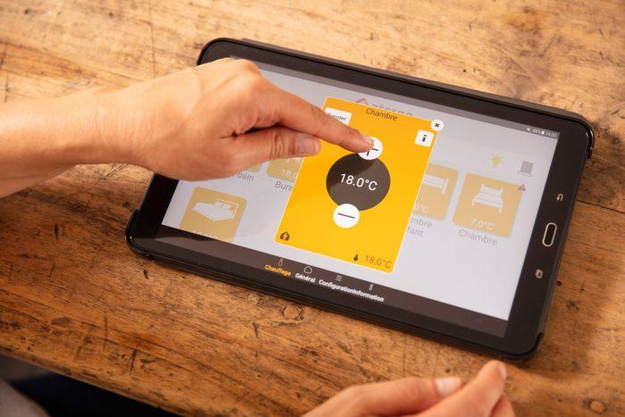 application myaterno sur tablette numerique